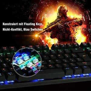 Mechanische Gaming Tastatur, DBPOWER USB Kabel LED Beleuchtet Kaufratgeber