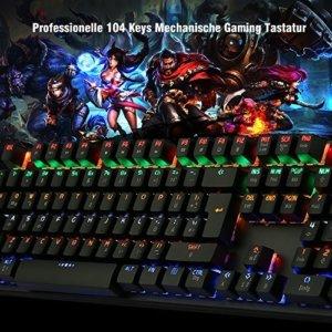 Mechanische Gaming Tastatur Beleuchtet Spiele Keyboard