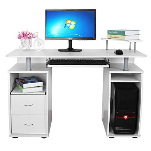 Songmics Schreibtisch Bürotisch XXL MDF Computertisch mit Tastaturauszug Kaufratgeber