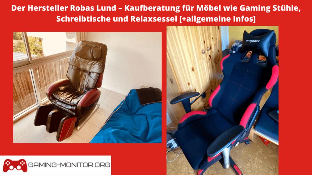 Robas Lund - Gaming Stühle, Schreibtische und Relaxsessel im Test und Vergleich